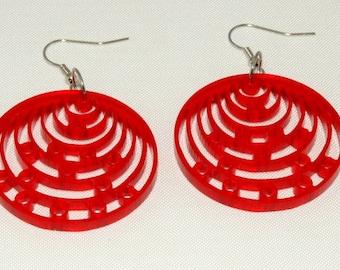 heart earrings plexi