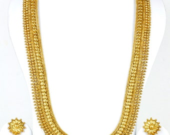 Antique gold design Indian statement necklace | Indian Jewellery | Indian Necklace | Temple Jewelry