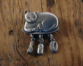 Pampered Cat Brooch