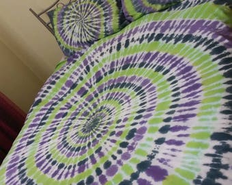 CUSTOM King Size Tie Dyed  Doona Cover or Sheet Set