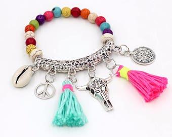 Bracelet charms and PomPoms ACAPULCO