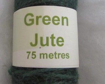 Natural Green Jute 75m