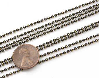 Faceted Dog Chain Brass. By THE YARD-Blackened Faceted
