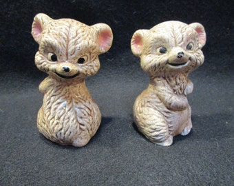 Mouse Salt and Pepper Shakers Vintage Shakers (1168)