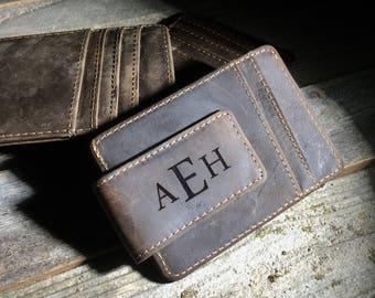 QUANTITY DISCOUNTS, Cowhide leather money clip,personalized leather money clip,personalized money clip,leather money clip,credit card wallet