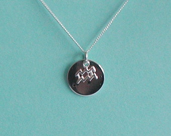 Sterling Silver Zodiac Sign Constellation Pendant Necklace Birthday Gift
