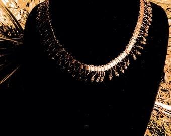 Tile collar necklace