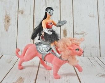 Catra & Clawdeen Action Figures ~ Princess of Power Pop ~ Cat Shera Toy Figurine ~ 1980's ~ She-ra Pink Lion ~ Heman