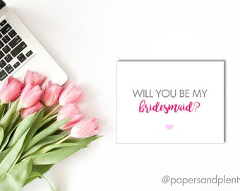 Will You Be My Maid/Matron of Honor Card | Bridal Party Card | Bridal Party Gifts | Wedding Party Gifts - Printable File