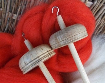 Drop Spindles and Spindle kits Begonia (Orange / Red) and Cream