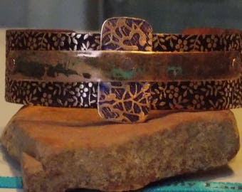 Copper cuff bracelet. copper bracelet, bracelets, rustic bracelet,  forged copper bracelet, cuff bracelet, copper cuff bracelet,