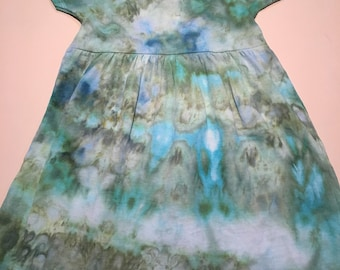 2T seaglass in the summer ice dye dress 2T