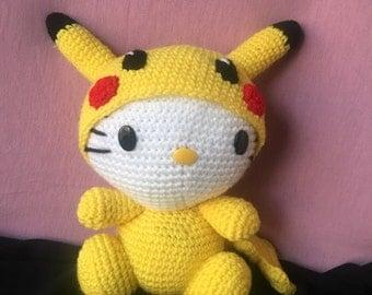 Chibi Pikachu Amigurumi : Items similar to Mini Pokemon Chibi Pikachu Amigurumi Made ...