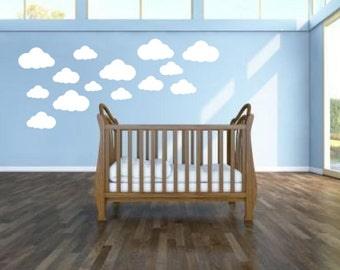 18 Cloud Shaped Wall Stickers Wall Decals Window Stickers kids nursery bedroom children playroom