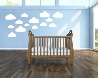 18 Cloud Shaped Wall Stickers Wall Decals Window Stickers kids nursery bedroom children playroom