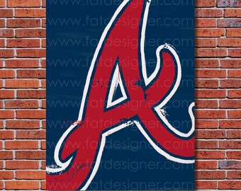 Atlanta Braves Graffiti- Art Print - Perfect for Mancave