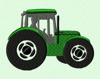 Tractor - machine embroidery applique design