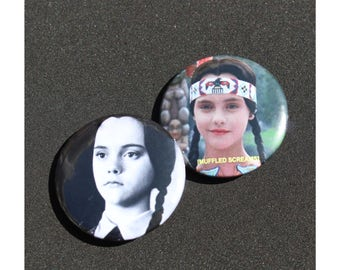 Wednesday Addams Pinback Buttons