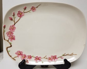 Peach Blossom Poppytrail Metlox Serving Platter; Made in California
