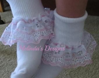 Lace Socks Ruffled Socks Baby Socks Infant Socks Frilly Socks Girls Socks Christening Socks Wedding Socks Toddler Socks Fancy Socks Babygift