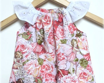 Girls Dress, Handmade, Pretty Fairies - Available in size 3