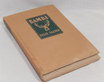 Bambi by Felix Salten Foreword by John Galsworthy, Grosset & Dunlap, 1929 Edition, MISSING 10 PAGES -Mainly the Illustrations