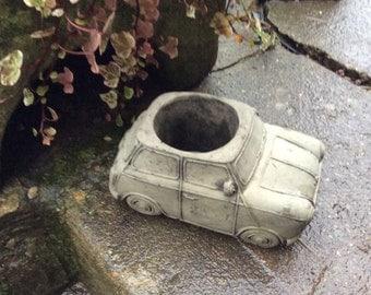 Stone mini car planter