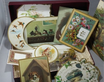 Vintage Victorian Reproduction Cards, Greeting Cards, Lot of 12