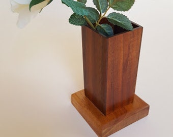 Hawaiian Koa Wood Dry Floral Vase