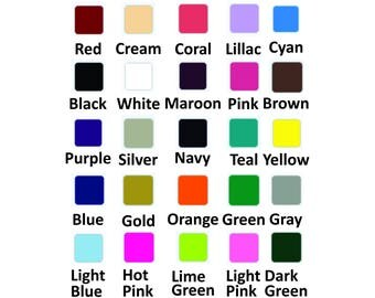 Matte Solid Heat Transfer Vinyl 12x8 Sheet, DIY, T-Shirt, Wedding, Totes, Iron On ** SOLID COLORS