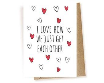 Love Card - I love You Card - Cute Love Card - Anniversary Card - Cad For Girlfriend - Card For Boyfriend - Card For Husband - Card For Wife