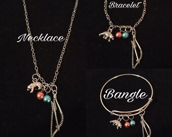 Disney's Brave inspired jewelry collection necklace bracelet or bangle