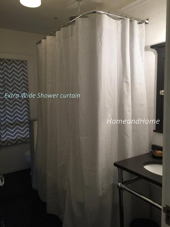 Custom Shower Curtain Geometric Teal Spa Blue Cream By HomeandHome