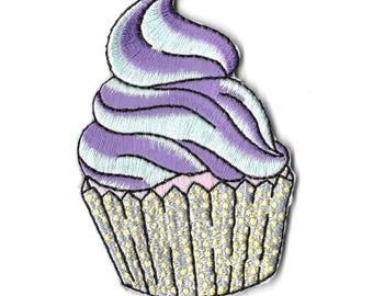 Pastel cupcake iron on patch