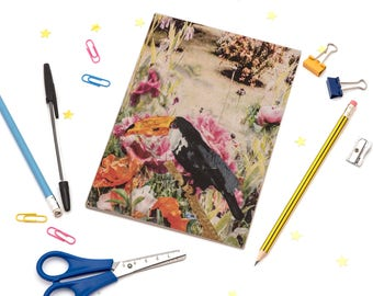 A5 Notebook with Toucan Illustration