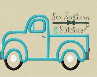 Old Truck Applique Design ~ Instant Download