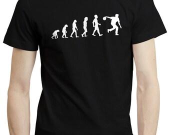 Evolution Bowling Bowler Bowls Funny Husband Gift Mens T shirt Tshirt Tee