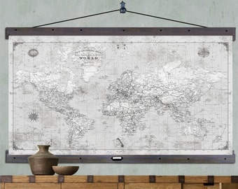 Executive map of the world wall hanging map home decor large push pin travel map 40x60 or 44x72 canvas hanging map push pin map gumiabroncs Gallery