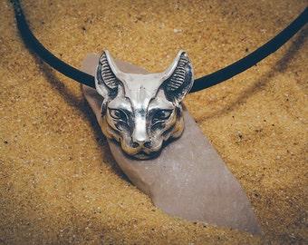 "Silver handmade pendant ""Bastet"""