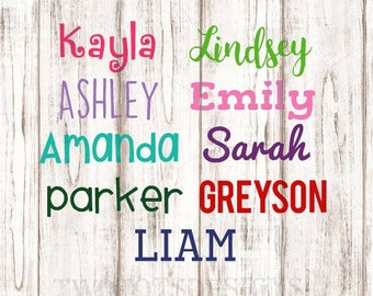 Personalized Vinyl Name Decal, Back to school, Name Decal, Custom Decal, Bento Box Decal,