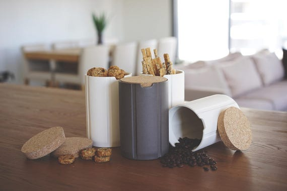 Modern Kitchen Jars kitchen canisters modern cork ceramic kitchen storage