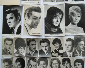 Vintage Photos of the Soviet Actors. Lot of 71 photos. USSR 1960-1970