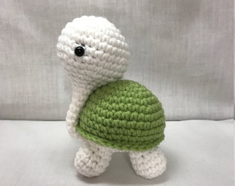 FREE SHIPPING Turtle, Handmade Crochet Turtle, Stuffed Animal Turtle Plushie, Cute Stuffed Turtle Plush