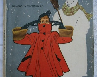 Vintage Magazine.Revista antigua mexicana.México.Vintage Christmas.Navidad.Red. Revista La Familia.Christmas gift.Extraordinary edition
