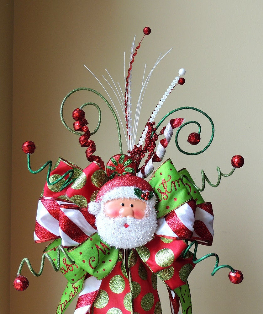 Make Bow Christmas Tree Topper