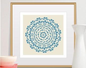 Mandala Print, Mid Century Modern Art, Scandinavian Modern, Wall Art, Art Prints, Scandinavian Modern, Minimalist, Home Decor, Art Prints