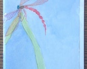 Greeting Card, Dragonfly,...