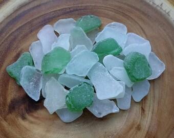 Wedding Guest Cards Sea Glass, Guest Book Beach Glass, 36 pc Flat Large Sea Glass, Seafoam Sea Glass ~ sg195