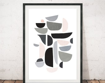 Mid century modern, Abstract print, Modern posters, Minimalism, Print art, Monochrome art, Wall prints, Modern wall art, Contemporary art