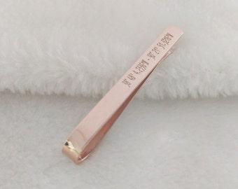 Latitude longitude Tie Clip Rose Gold,Coordinates Tie Clip,GPS Coordinate Tie Clip,Tie Clip for Best Man,Wedding Tie Clip,Father Day Gift